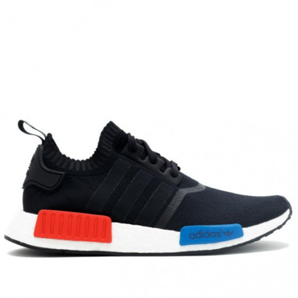 blue white and red adidas shoes