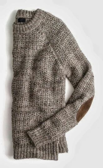 fall outfits j crew knitwear sweater preppy fall sweater cozy sweater elbow patches grey grey sweater patched sweater warm style fashion winter outfits knitted sweater loose fit sweater baggy sweaters
