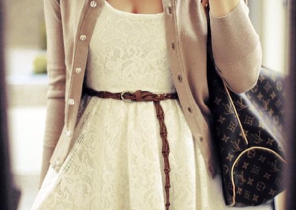 bag belt dress sweater