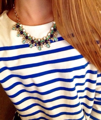 top preppy blue white stripes prep preppy outfit