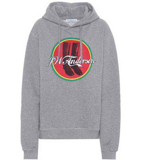 JW Anderson hoodie cotton grey sweater