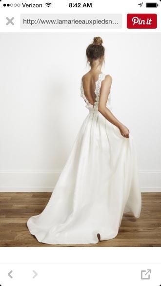 dress white dress wedding dress boho dress bohemian hipster wedding