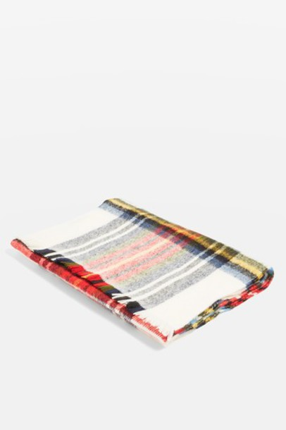 Topshop scarf cream red