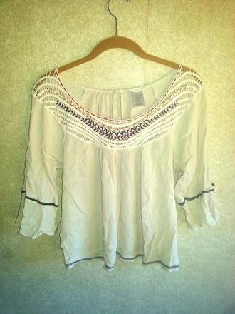 blouse boho crochet native tribal pattern