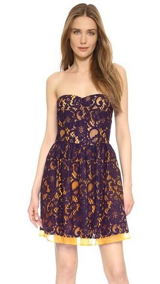 dress strapless dress strapless yellow plum