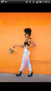 pants,rainbow,multicolor,watercolor,tie dye,leggings