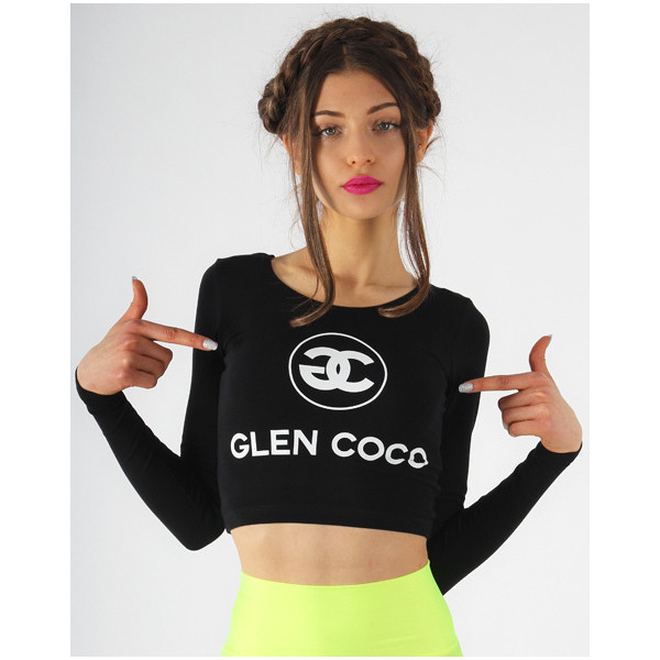 Doll Boutique Collection Glen Coco Long Sleeve Crop Top - Polyvore