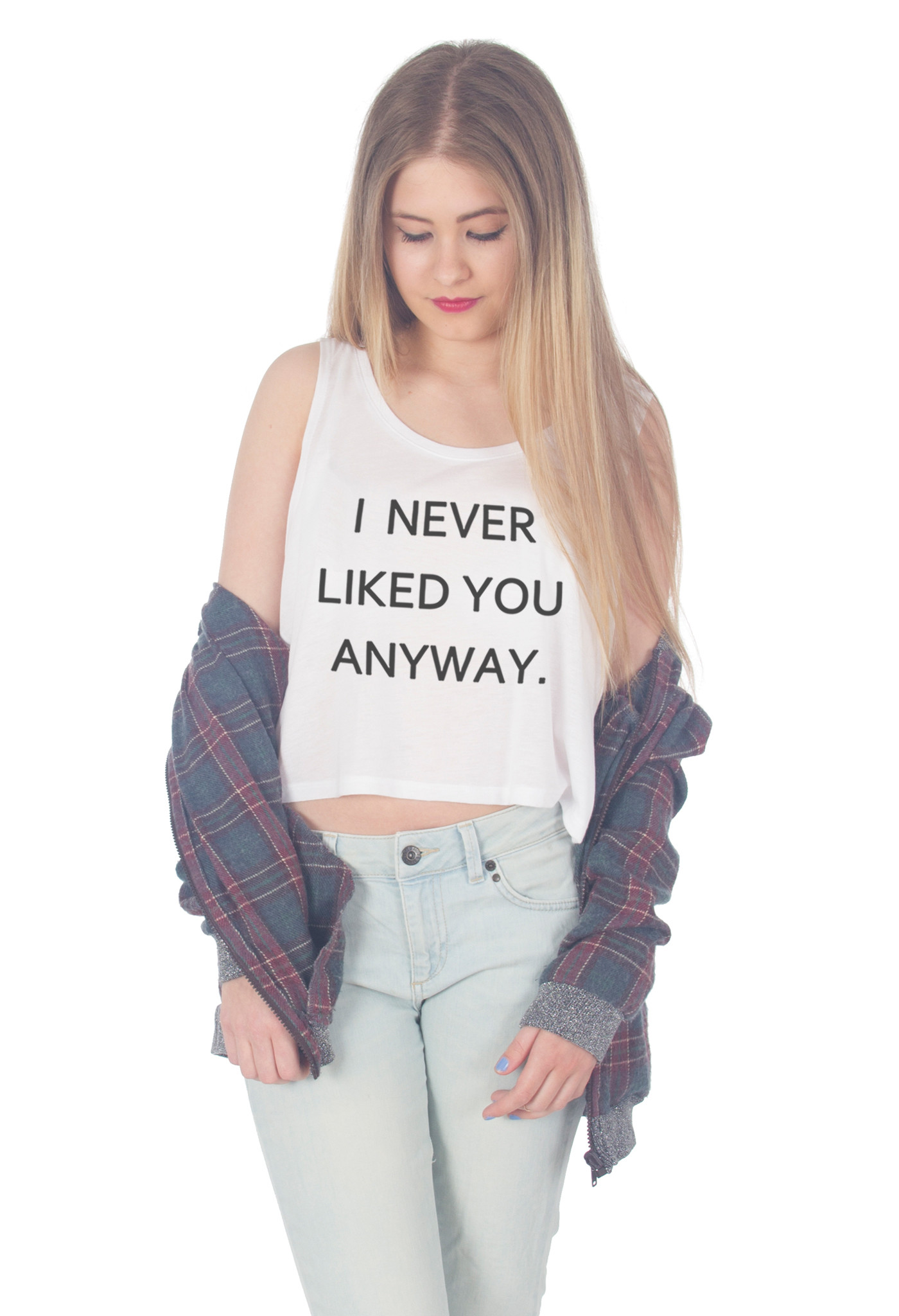 I Never Liked You Anyway Crop Tank