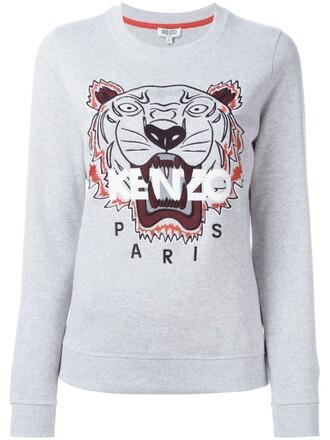 sweatshirt tiger grey sweater