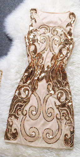 Embroidered sequins sleeveless elastic bodycon prom party tank dress