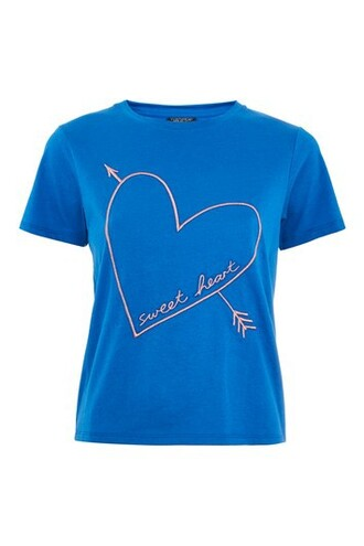 t-shirt shirt mini blue top