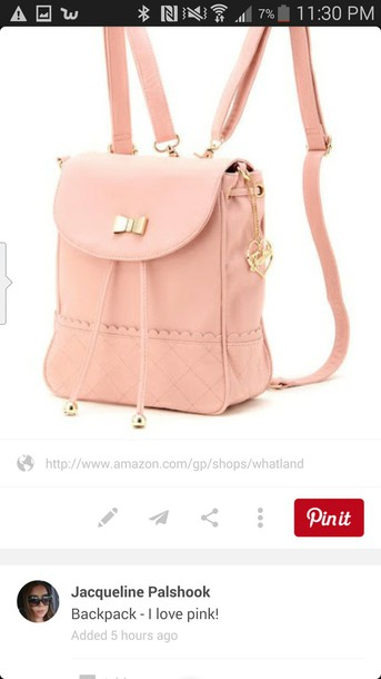 bag pastel pink backpack