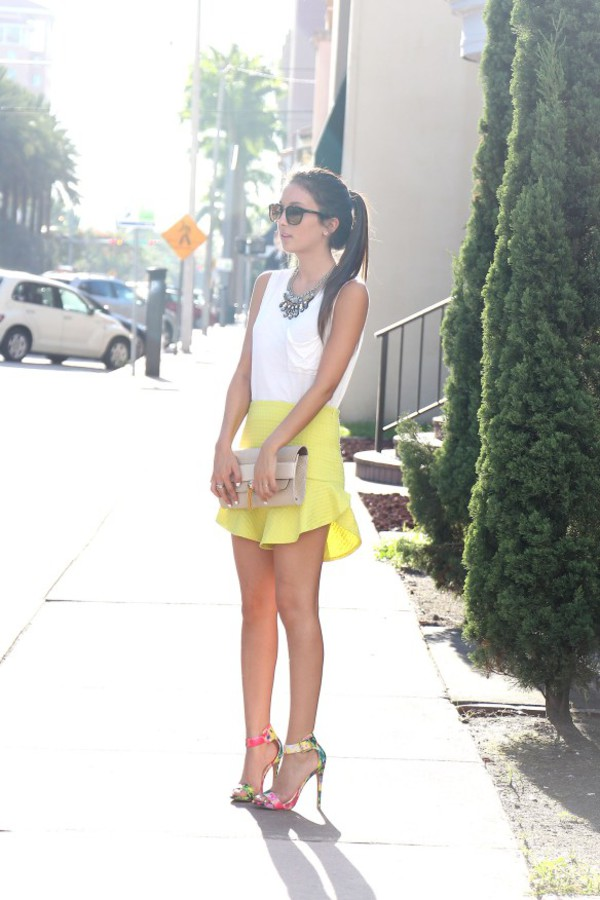 the material girl top skirt jewels sunglasses shoes bag