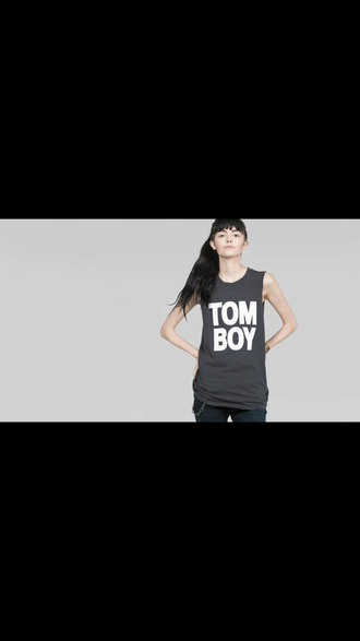shirt tomboy black summer