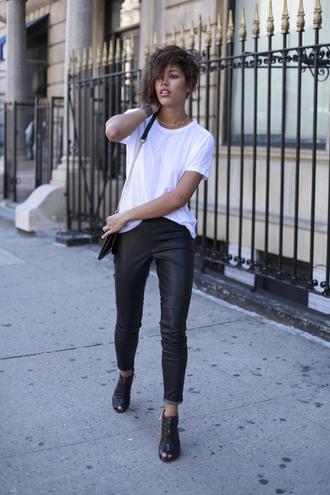 trop rouge blogger jacket leggings bag shoes jewels sunglasses