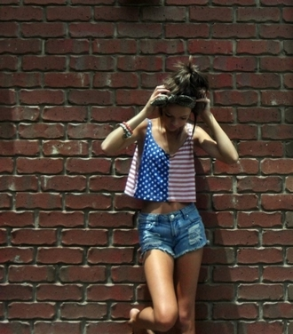 tank top red white blue american flag