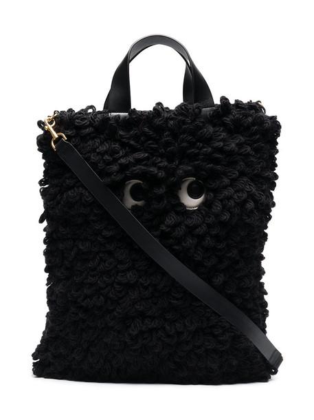 Anya Hindmarch women bag leather black wool