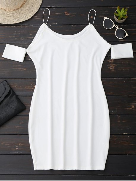dress white summer fashion style trendy