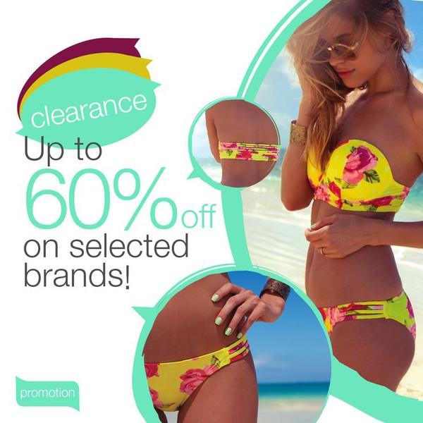 swimwear bikini beach holidays sale promotion yellow