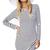 White Long Sleeve Slim Striped Bodycon Dress - Sheinside.com