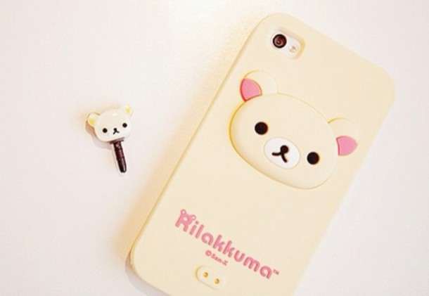 jewels rilakkuma iphone case beige korilakkuma