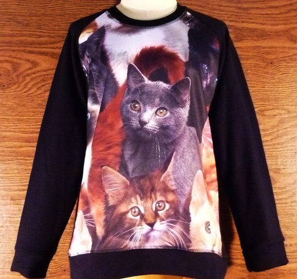 crewneck sweatshirt cat cold shirt cats tee cats shirt winter outfits winter tee crew neck winter sweater