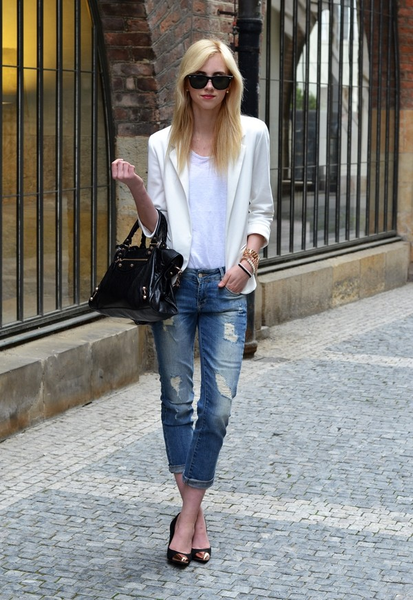 vogue haus t-shirt jacket jeans shoes bag sunglasses jewels