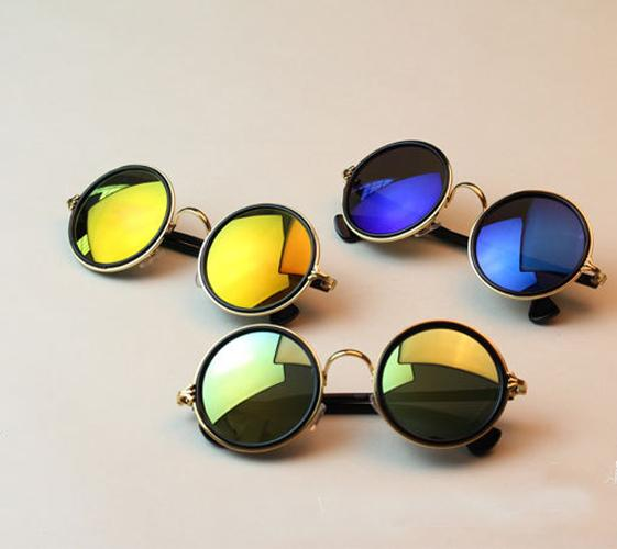 Women Men Retro Vintage Mirror Round Glasses Hippie Punk Shades Sunglasses 5201 | eBay