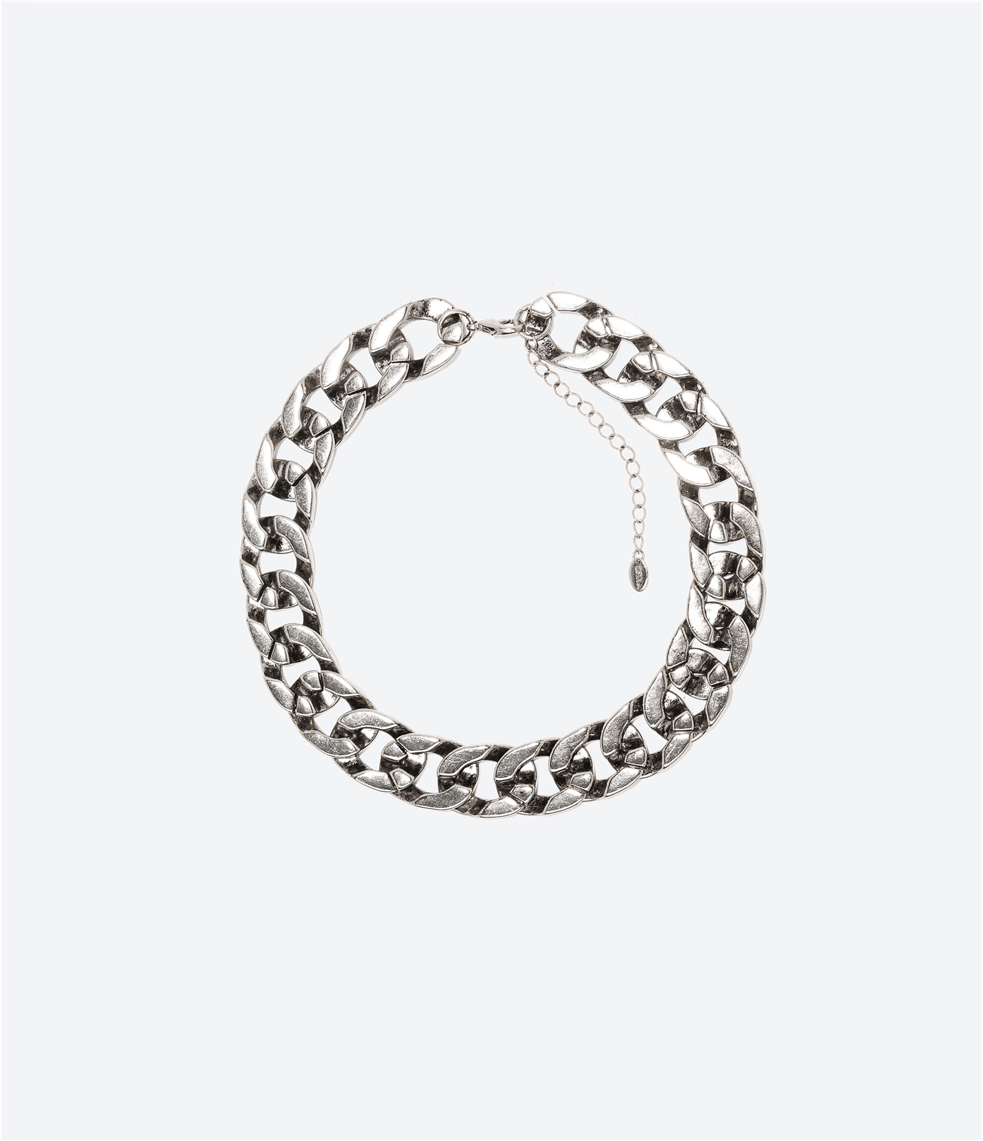 Collier maillons brillants