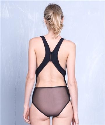 Lethalbeauty ? sheer mesh razor back bodysuit