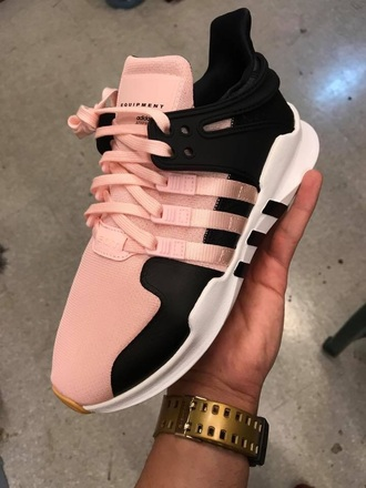 shoes adidas shoes adidas sneakers pink black rose basket