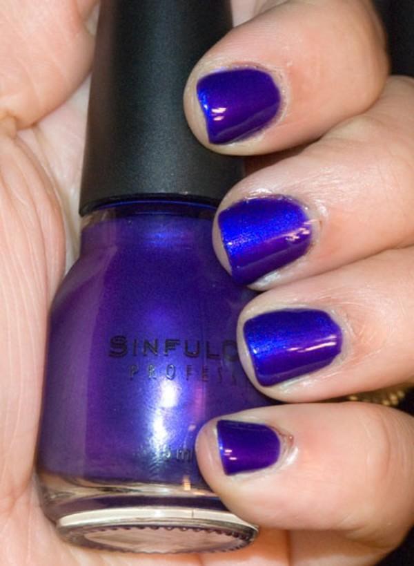 nail polish, blue, purple, iridescent, blue nails - Wheretoget