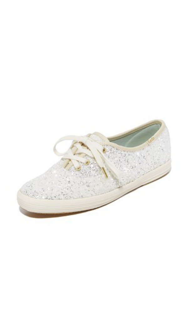 Keds x Kate Spade New York Glitter Sneakers in cream