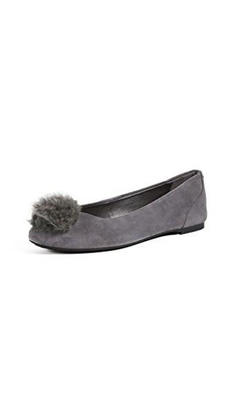 MICHAEL Michael Kors fur ballet flats ballet flats charcoal shoes