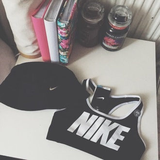 hat black nike bucket hat white