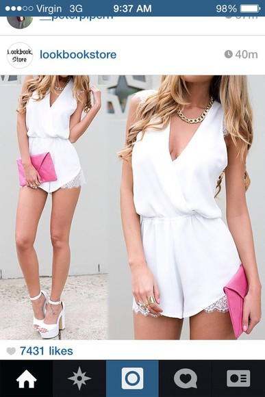 jumpsuit white dress lace dress