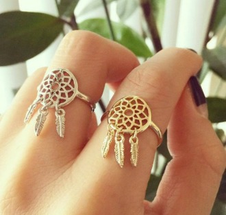 jewels jewelry ring dreamcatcher dreamcatcher ring gold gold ring