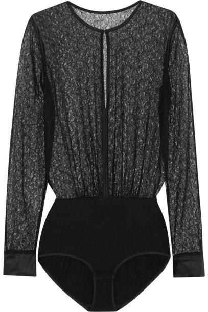 bodysuit lace black underwear