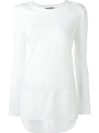 t-shirt shirt women white silk top