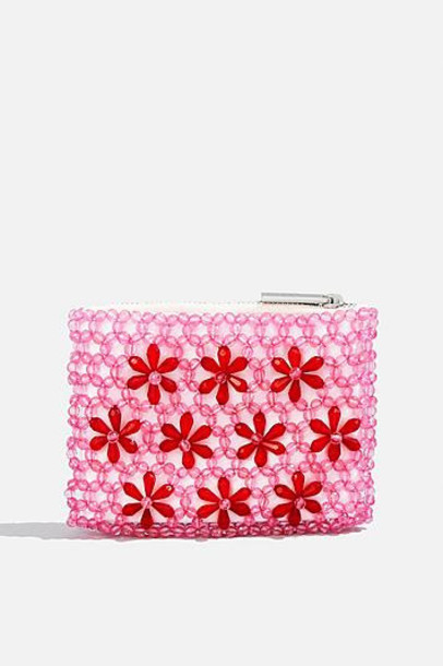beaded purse pink bag