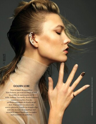 ear cuff karlie kloss ring editorial jewels