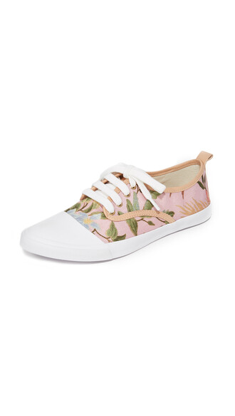 tropical sneakers print pink shoes