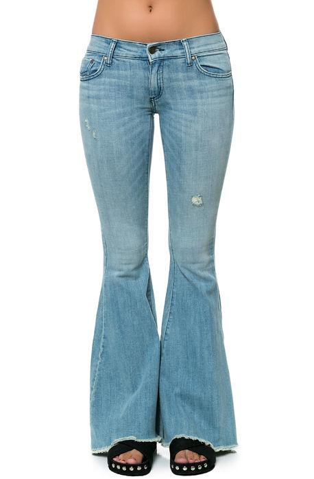 Pistola denim jeans janis flare in festival blue