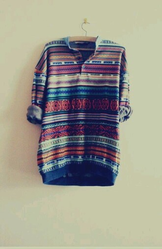 sweater tribal pattern pullover
