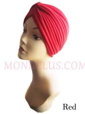 hat,chemo hat,hair loss hat,mondelusfashion,mondelus.com,turban,red turban,headband,headwrap,headpiece