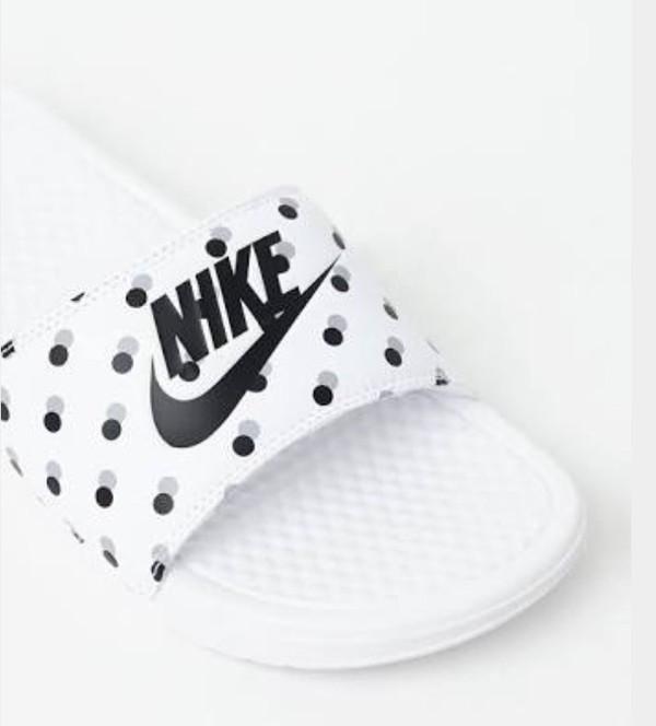 shoes nike polka dots nike slides slide shoes