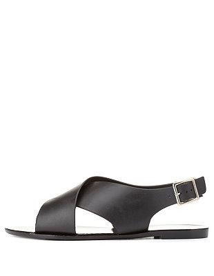 Qupid crisscross slingback jelly sandals: charlotte russe
