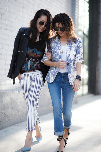 alterations needed blogger jacket t-shirt jeans shoes blazer spring outfits pumps high heel pumps