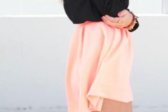 skirt bracelets hilo high low skirt neon pastel fancy girly studded jewelry