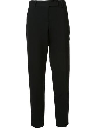 cropped women spandex fit cotton black pants